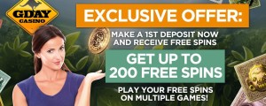 G'Day Casino Free Spins Promotion