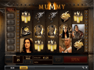 Image of the mummy slot in play